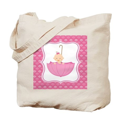 Baby Girl Umbrella Tote Bag