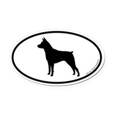 Min Pin Oval Car Magnet