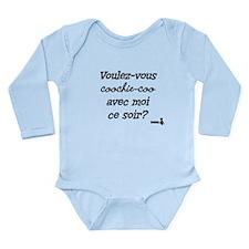 Voulez-vous coochie-coo? Long Sleeve Infant Bodysu