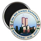 September 11th Memorial Refrigerator Magnet