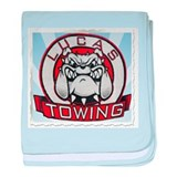 Lucas Towing Logo baby blanket