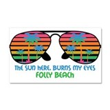 Folly Beach, South Carolina Beaches Car Magnet 20