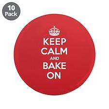 """Keep Calm Bake 3.5"""" Button (10 pack)"""