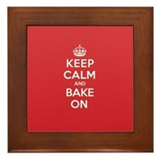 Keep Calm Bake Framed Tile