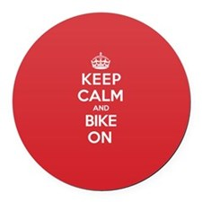 Keep Calm Bike Round Car Magnet