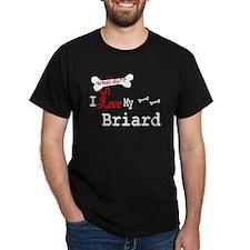 Briard Gifts Black T-Shirt