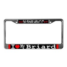 Briard Gifts License Plate Frame