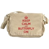 Keep Calm Butterfly Messenger Bag