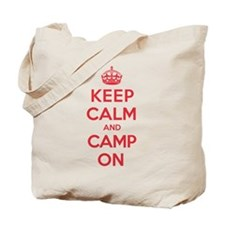 Keep Calm Camp Tote Bag