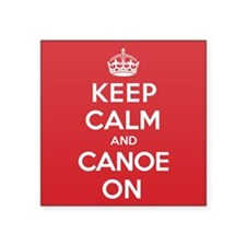 "Keep Calm Canoe Square Sticker 3"" x 3"""