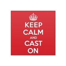 "Keep Calm Cast Square Sticker 3"" x 3"""