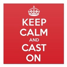 "Keep Calm Cast Square Car Magnet 3"" x 3"""