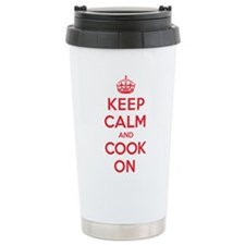 Keep Calm Cook Stainless Steel Travel Mug