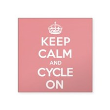 "Keep Calm Cycle Square Sticker 3"" x 3"""