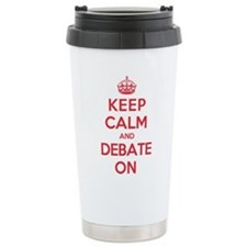 Keep Calm Debate Ceramic Travel Mug