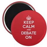 "Keep Calm Debate 2.25"" Magnet (100 pack)"