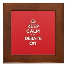Keep Calm Debate Framed Tile