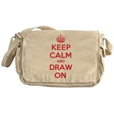 Keep Calm Draw Messenger Bag