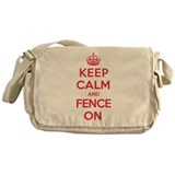 Keep Calm Fence Messenger Bag
