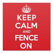 "Keep Calm Fence Square Car Magnet 3"" x 3"""