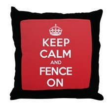 Keep Calm Fence Throw Pillow