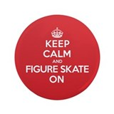 "Keep Calm Figure Skate 3.5"" Button"