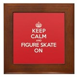 Keep Calm Figure Skate Framed Tile