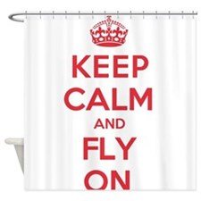 Keep Calm Fly Shower Curtain