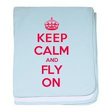 Keep Calm Fly baby blanket