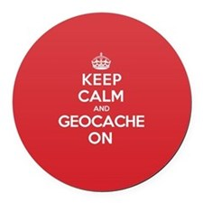 Keep Calm Geocache Round Car Magnet