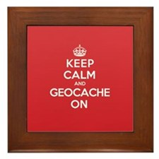 Keep Calm Geocache Framed Tile