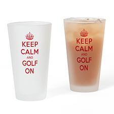 Keep Calm Golf Drinking Glass