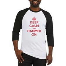 Keep Calm Hammer Baseball Jersey
