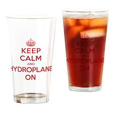 Keep Calm Hydroplane Drinking Glass
