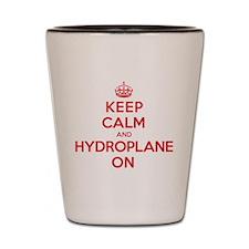 Keep Calm Hydroplane Shot Glass