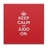 Keep Calm Judo Tile Coaster