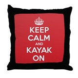 Keep Calm Kayak Throw Pillow