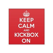 "Keep Calm Kickbox Square Sticker 3"" x 3"""