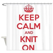 Keep Calm Knit Shower Curtain