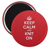 "Keep Calm Knit 2.25"" Magnet (100 pack)"