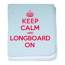 Keep Calm Longboard baby blanket