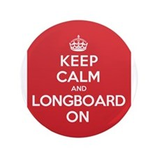 "Keep Calm Longboard 3.5"" Button (100 pack)"