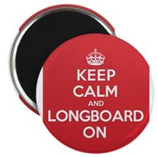 "Keep Calm Longboard 2.25"" Magnet (10 pack)"