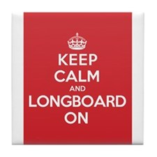 Keep Calm Longboard Tile Coaster