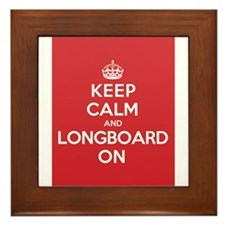 Keep Calm Longboard Framed Tile