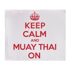 Keep Calm Muay Thai Throw Blanket