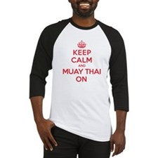 Keep Calm Muay Thai Baseball Jersey