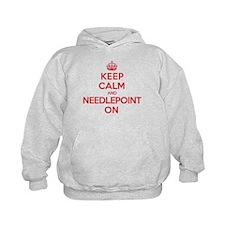 Keep Calm Needlepoint Hoodie
