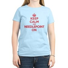 Keep Calm Needlepoint T-Shirt