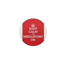 Keep Calm Needlepoint Mini Button (10 pack)